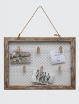 wanddecoratie-hout-multi-fotokader-in-driftwood-met-clips-op-kippengaas